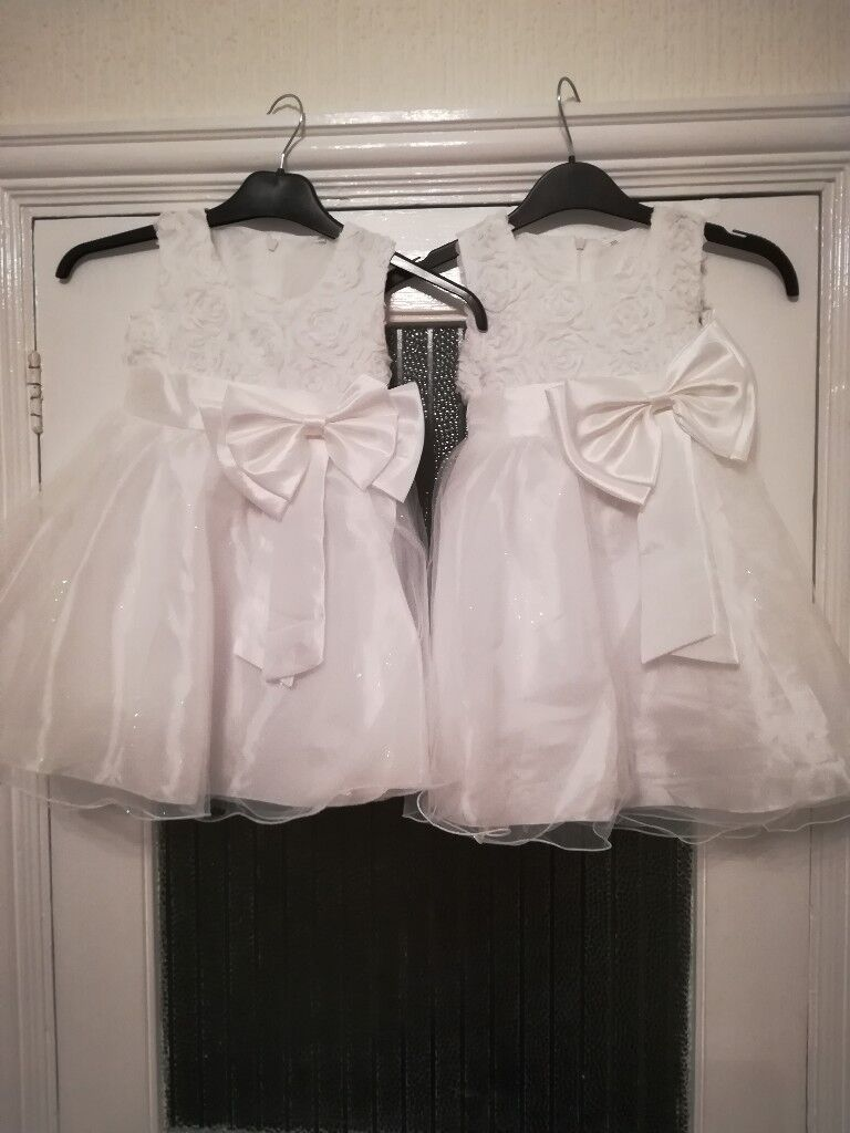 Two Pretty Little Flower Girl Dresses In Portsmouth Hampshire