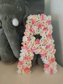 Personalised Flower Letters