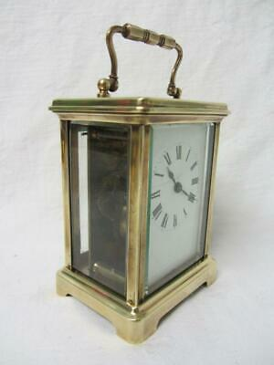 Antique English/French Brass Cased Carriage Clock inc Key