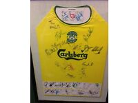 Hibernian framed and signed top