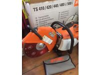 Brand new in box stihl saw petrol ts410 with high quality diamond tip blade new