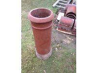 Reclaimed clay chimney pot
