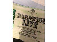 Hardwick Hall Saturday tickets x2