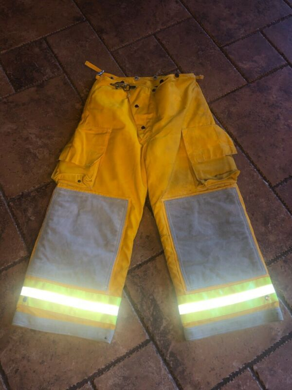 Cairns Turnout Gear Firefighter Fire Pants Nomex Quilted, Size 34x24