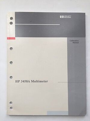Hp 3458a Multimeter Calibration Manual Pn 03458-90016