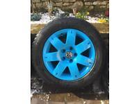 """16"""" Vw alloy wheels 5x112 winter tyres"""