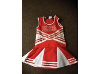 High School Musical cheerleader outfit vest & skirt fancy dress girls age 5 - 6