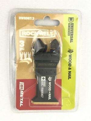 Rockwell 1-38 Bi-metal Oscillating Tool Blades 3-pack Plunge Cut Rw8967.3