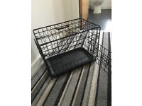 Small puppy dog cage