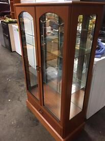 Display cabinet with lights excellent condition