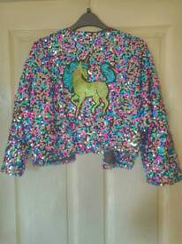 Misguided sequin festival jacket brand new with tags size 8