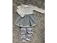 Next Girls Dress And Leggings Set 2-3 years, new with tags.