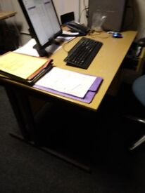 free to a good home desk chairs voip phones coat stand cupboard