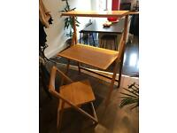 Large folding solid wood desk and chair marks and spencer