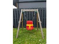 Wooden Baby Swing by Plum Play