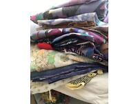 Bulk load of vintage and retro fabric 2 bin bags full! Long lengths fashion student perfect!