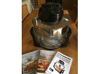 12 Litre Halogen Oven with 2 Cook Books