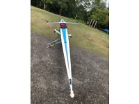Single Rowing Scull - Hudson 66-79kg S1-21 Great White . Perfect condition .