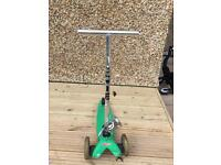Micro Scooter green for 2-5 year old
