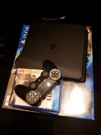 Playstation 4, 1TB console, with games and controller