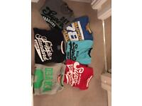 Superdry tee shirts and polos size L