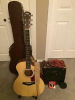 Taylor guitar with accessaries