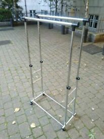 Double clothes rail on wheels central London bargain