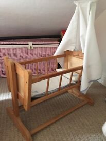 Traditional Wooden rocking cot