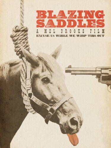 1974 Blazing Saddles Movie Poster Print > Mel Brooks > Gene Wilder 🐴🍿
