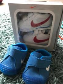 2 pairs baby boy Nike shoes