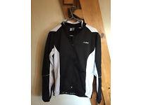 Womens DHB cycling winter jacket (Black/White, UK 12, £20)