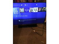 ps4 and samsung tv with 12 games