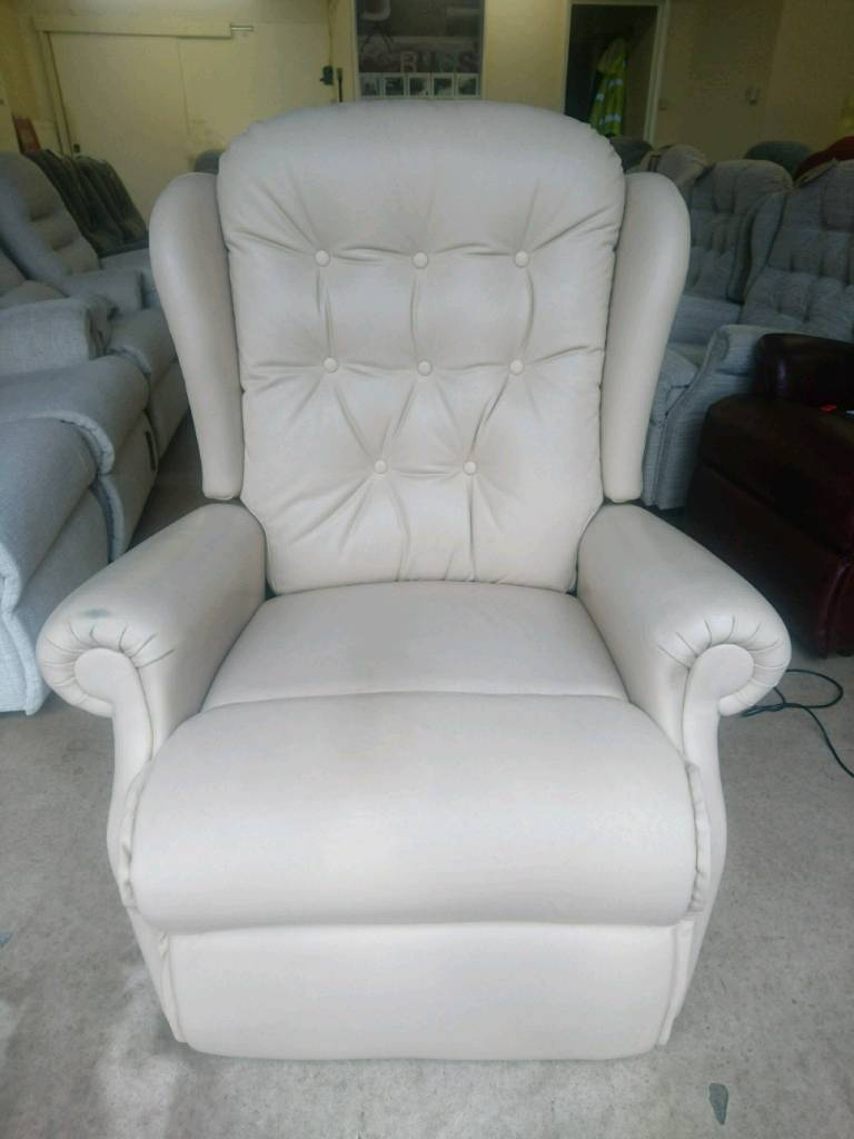 Leather Lift & Rise Recliner