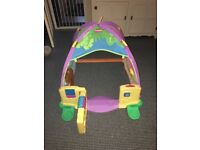 Playskool play tent with doorbell