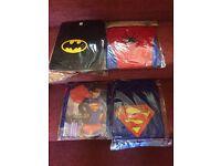 WHOLESALE JOB LOT CLEARANCE x 10 SPIDERMAN BATMAN SUPERMAN KIDS COSTUMES HALLOWEEN FANCY DRESS UP