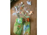 Jungle bedroom/nursery accessories