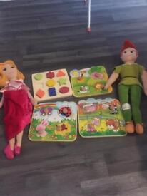 Kids plush and toys £10