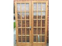 Glazed Double Internal Pine Doors