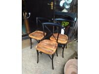 vintage bentwood style metal framed bistro / patio chairs solid or upholstered seats bar restaurant