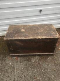 Reduced Antique Blanket Box / Captains Chest / Trunk