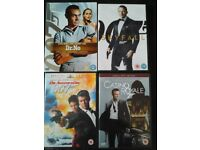 4 James Bond 007 DVDs