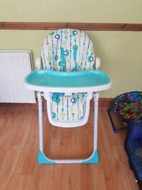 High chair good condition.
