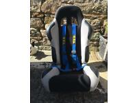 Reclining Bucket Seat and Harness
