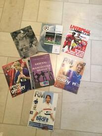 Football programmes including rangers