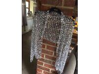 Grey/Silver shimmer shawl