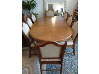 Table Extendable with 8 Chairs