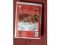 100% polyester lace tablecloth brand new