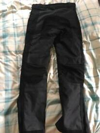Men's leather/cordura Motorcycle trousers
