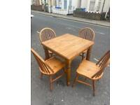 Space save table and 4 chairs ducal high quality pine