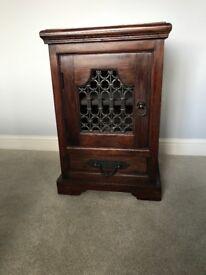 Solid Indian hardwood bedside cabinets x2
